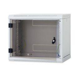 """Triton 19"""" jednodílný rack 09U/600mm prosklené dveře, odnímatelné bočnice,šedý"""