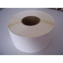 Etikety 50mm x 30mm, bílý papír, cena za 3000ks/1role/D40