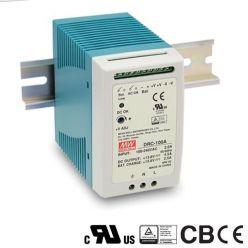 MEANWELL • DRC-100B • Průmyslový napájecí zdroj 24V 100W s funkcí nabíječky na DIN lištu