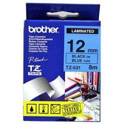 Brother TZ-531, modrá / černá (12mm, laminovaná)
