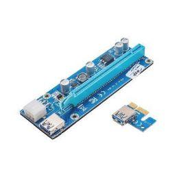 Akyga  PCI-Express 1x riser prodlužovací adaptér po USB 3.0/55cm/15cm