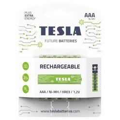 Tesla AAA RECHARGEABLE+ nabíjecí Ni-MH, 4 ks, ND