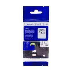 PRINTLINE kompatibilní páska s Brother TZE-233, 12mm, modrý tisk/bílý podklad