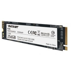 Patriot P300 256GB SSD M.2 2280 (PCIe 3.0 x4), 1700R/1100W