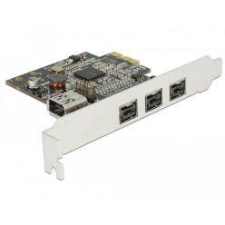 Delock interní FireWire řadič, 3x externí FireWire B + 1 x interní FireWire A, PCIe