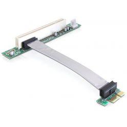 Delock Riser card PCI Express x1 > PCI 32Bit 5 V s flexibilním kabelem 13 cm zasunutí vlevo