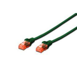 Digitus Ecoline Patch Cable, UTP, CAT 6e, AWG 26/7, zelený 0,5m, 1ks