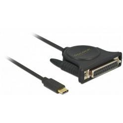 Delock adaptér USB-C -> LPT, délka 1.8m