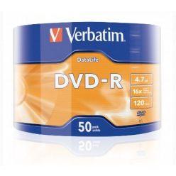 Verbatim DVD-R, 43791, DataLife, 4.7GB, 16x, 50-pack, Matt Silver, wrap
