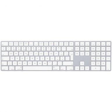 Apple Magic Keyboard s číselnou klávesnicí - CZ, silver