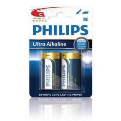 Philips baterie C ExtremeLife+, alkalická - 2ks