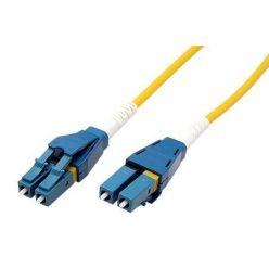 Optický patchkabel LC-LC 9/125 (single mode), duplex, OS2, LSOH, uniboot, 1m