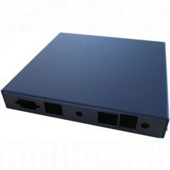 Montážní krabice CASE1D1BLKU, 2x LAN, USB, černá