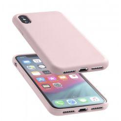 Ochranný silikonový kryt CellularLine SENSATION pro Apple iPhone XS Max, starorůžový