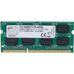 G.Skill 4GB DDR3L 1600MHz CL11, SO-DIMM, 1.35V