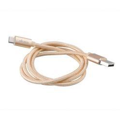 AKASA USB 2.0 kabel, USB-C -> USB-A, 1m, zlatý