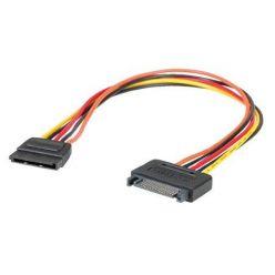 Kabel napájecí SATA M - SATA F, prodlužovací, 30cm