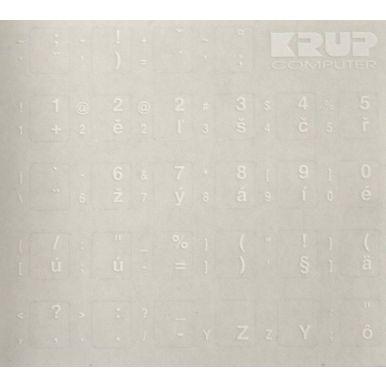 Přelepky na klávesnici - bílé CZ