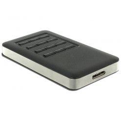 Delock externí box na M.2 SSD Key B 2242, USB 3.0, funkce šifrování