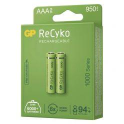 GP AAA ReCyko 1000 series, nabíjecí, 2 ks PP