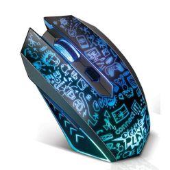 CONNECT IT DOODLE 2 bezdrátová herní myš, 2400dpi , 6 tlačítek, vícebarevné podsvícení, USB