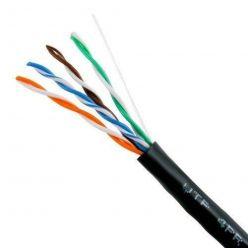 Kabel UTP kulatý, kat.5e, 1m, drát, venkovní