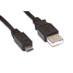 USB kabel 2.0, USB A(M) - microUSB B(M), 15cm
