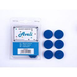 Set magnetů AVELI, modrá barva