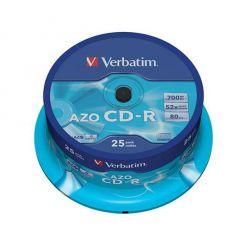 Verbatim CD-R AZO Crystal, 700MB, 52x, 25ks, spindle