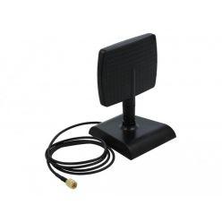 Delock WLAN WiFi 6 Anténa RP-SMA, zástrčková, 4 až 6 dBi, směrová s magnetickým podstavcem s výklopným kloubem