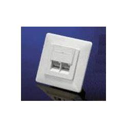 Zásuvka UTP kat. 6 pod omítku, 2 konektory, bílá