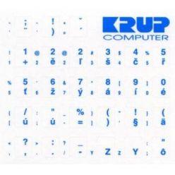 Přelepky na klávesnici - modré CZ