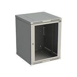 Rack nástěnný Sensa 15U 600mm,dv.sklo, šedý