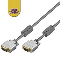 Home Theater; HQ kabel VGA/SVGA MD15HD-MD15HD s ferrity, 1,8m