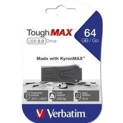Verbatim Store 'n' Go ToughMAX 64GB flash disk, USB 2.0, černý