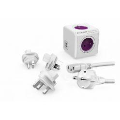 PowerCube Rewirable USB + Travel Plugs + IEC