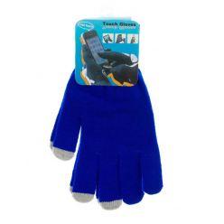 Rukavice pro dotykové displeje - pánské, modré