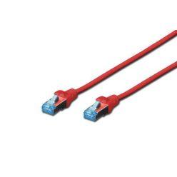 Digitus CAT 5e S/FTP patch kabel, AWG 26/7, 3m, červený