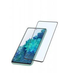 Ochranné tvrzené sklo pro celý displej Cellularline Capsule pro Samsung Galaxy S20 FE, černé
