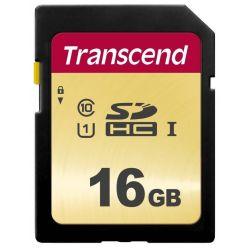 Transcend 500S 16GB SDHC karta, UHS-I U1, MLC, 95R/60W