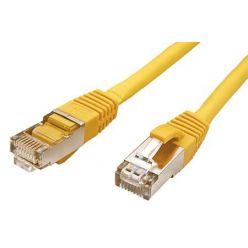 S/FTP patchkabel kat. 6, LSOH, 1,5m, žlutý