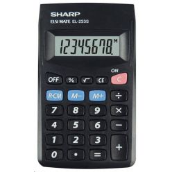 SHARP EL-233S, kalkulačka, černá