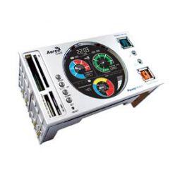 "AEROCOOL PowerWatch Silver, monitorovací panel do dvou 5.25"" pozic, stříb."