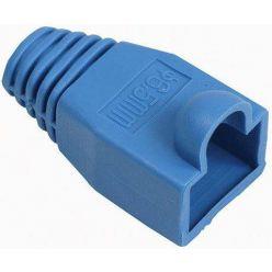 Krytka konektoru RJ45 na kulatý kabel, 1ks, modrá