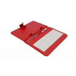 "AIREN AiTab Leather Case 1, 7"" pouzdro s klávesnicí, microUSB, CZ, červené"