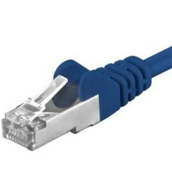 Premiumcord Patch kabel CAT6a S-FTP, RJ45-RJ45, AWG 26/7 0,25m modrá