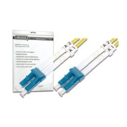 DIGITUS Fiber Optic Patch Cord, LC to LC, Singlemode, OS1, 09/125 µ, Duplex Length 2m