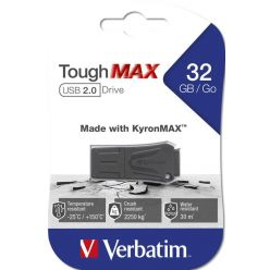 Verbatim Store 'n' Go ToughMAX 32GB flash disk, USB 2.0, černý