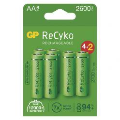 GP nabíjecí baterie ReCyko 2700 AA (HR6) 6ks