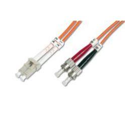 Digitus Fiber Optic Patch Cable, LC to ST,62.5/125 µ, Duplex 2 m